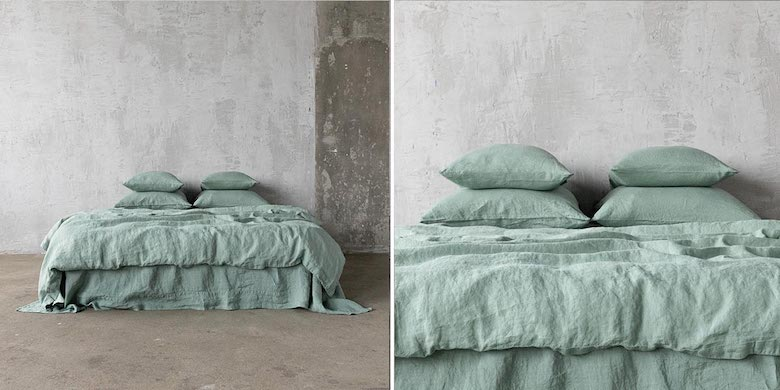 Ropa-de-cama-de-lino-spa-green