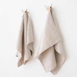 Toallas de Invitadoss de Lino y Algodón Natural Wafer