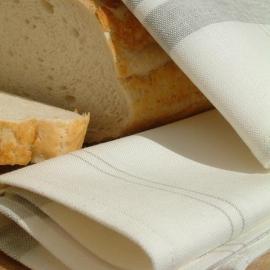Paños de Cocina de Lino y Algodón White Grey Tre Cotton