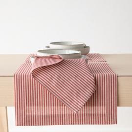 Mantel Individual de Lino y Algodón Red Jazz