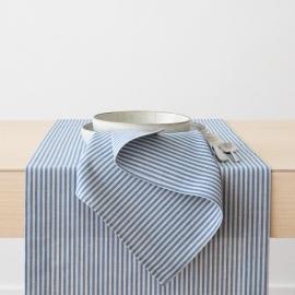 Servilleta de Lino y Algodón Blue Striped Jazz