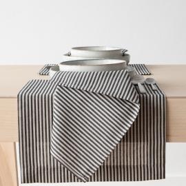 Servilleta de Lino y Algodón Black Striped Jazz