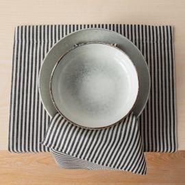 Mantel Individual de Lino y Algodón Black Striped Jazz