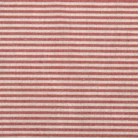 Tela de Lino y Algodón Red Striped  Jazz