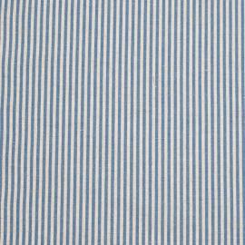 Tela de Lino y Algodón Blue Striped Jazz