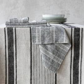 Servilleta de Lino Black Multistriped