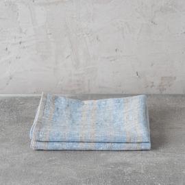 Set de 2 Blue Mano Toallas de Lino Multistripe