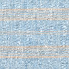 Tela de Lino Blue Multistriped