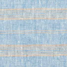 Tela de Lino Blue Multistriped