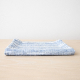 Azul Blanco Toalla de Baño de Lino Multistriped