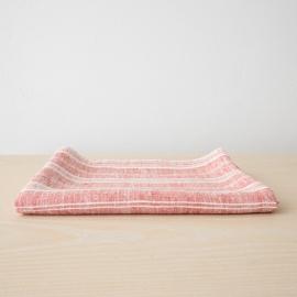 Toalla de Baño de Lino Red White Multistriped