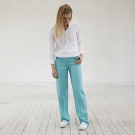 Pantalone de Lino Aqua Alma