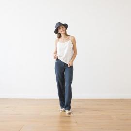 Pantalone de Lino Indigo Alma