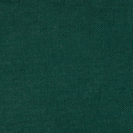 Dark Green Linen Fabric Sample Rustico