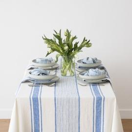 Mantel de Lino Blue Tuscany