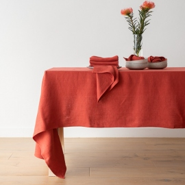Mantel de Lino Orange Lara