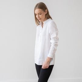 White Camisa de Lino Toby