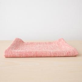 Bath Towel Red Linen Francesca