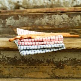Paños de Cocina White Red Gingham