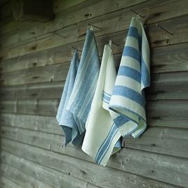 Toallas de Mano de Lino Blue Striped