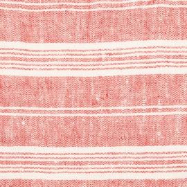 Tela de Lino Red Multistriped