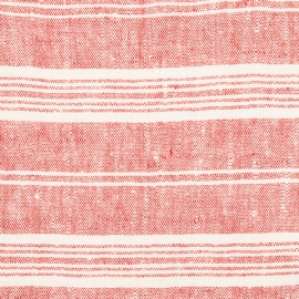 Tela de Lino Red Multistriped