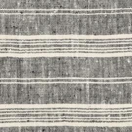 Tela de Lino Black Multistriped