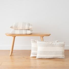 Funda de Almohada Decorativo de Lino Cream Linum
