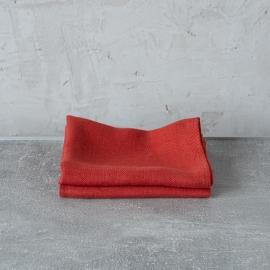 Paños de Cocina de Lino Orange Lara