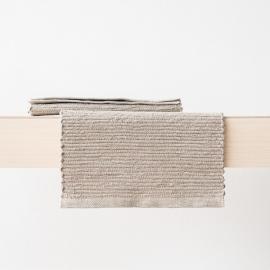 Mantelas de Individual Tejido a Mano de Lino Natural Lara