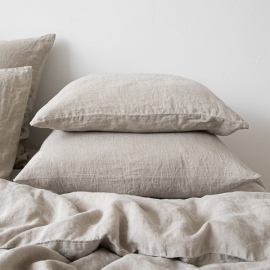 Funda de Almohada de Lino Natural Stone Washed