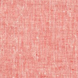 Fabric Red Linen Francesca