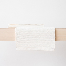 Mantel de lino blanco tejido a mano Lara