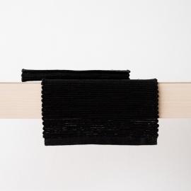 Mantel de Lino Black Tejido a Mano Terra