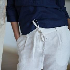 Pantalones de Lino White Daniela