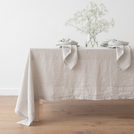 Mantel de Lino Silver Stone Washed
