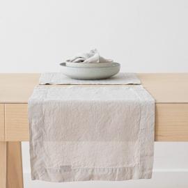 Mantel Individual de Lino Silver Stone Washed