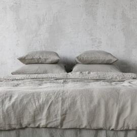 Edredon de Lino Taupe Stone Washed