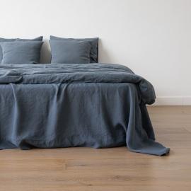 Funda de Almohada de Lino Blue Stone Washed
