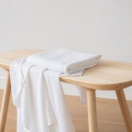 Toalla de Baño de Lino Optical White Waffle Washed