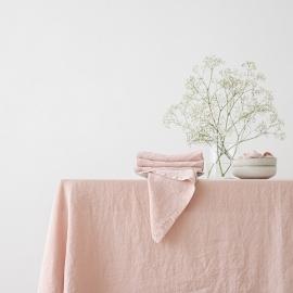Mantel de Lino Rosa Stone Washed