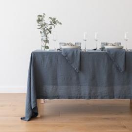 Mantel de Lino Blue Stone Washed
