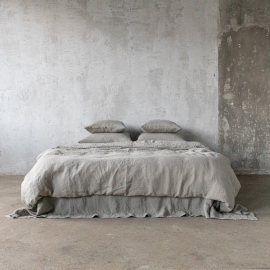 Taupe Bed Linen Fabric