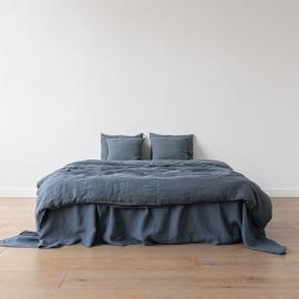 Blue Bed Linen Fabric
