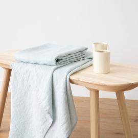 Toalla de Baño de Lino Ice Blue Waffle Washed