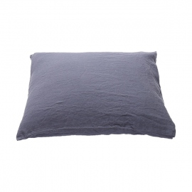 Funda de Almohada de Lino Blueberry Stone Washed