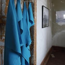 Conjunto de Toallas de Lino Turquoise Lara