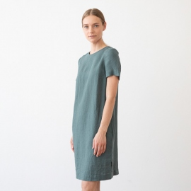Vestido de Lino Balsam Green Isabella