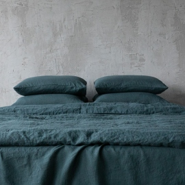Balsam Verde Funda de Almohada de Lino Stone Washed