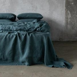 Balsam Green Conjunto de Cama de Lino Stone Washed